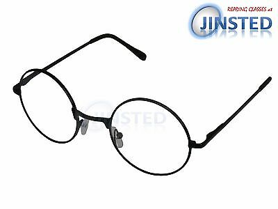Black Lightweight Round Reading Glasses Circle Frame Long Sighted Light RG039