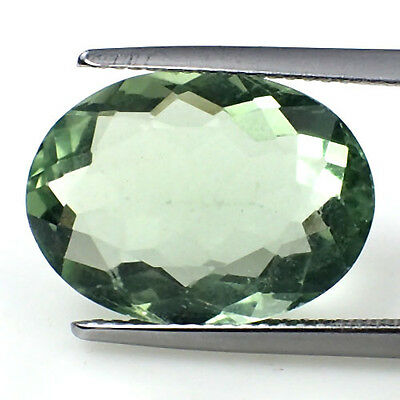 Green Natural Fluorite 10.4Cts Oval Shape 16.5x12mm AAA jewelry Gemstone