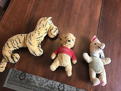 Vintage Gund Winnie The Pooh, Piglet, And Tigger, J. Swedlin Co. 1964