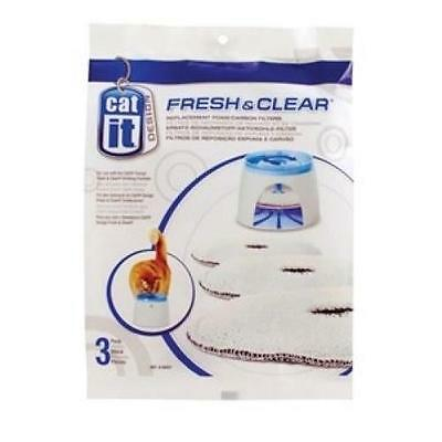 Fresh Clear Recharge 3 Filtres Pour Fontaine Cat It 500
