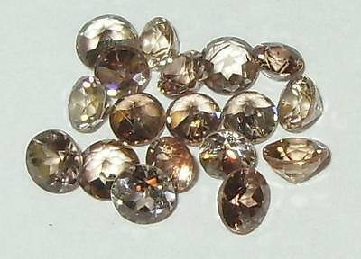 3.85ct Lot 18pcs Natural Cambodian Champagne Zircon Rounds 3-3.65mm SPECIAL