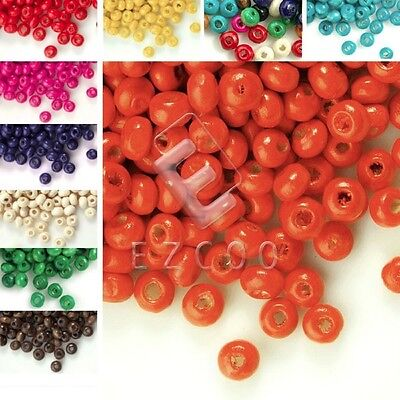 30g(800pcs About) Round Wood Beads Spacer Jewelry Making 3x4mm DIY HCWBSET01