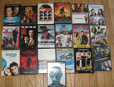 large lot 19 john cusack DVDS MOVIES JACK BULL, SURE THING ,GRIFTERS