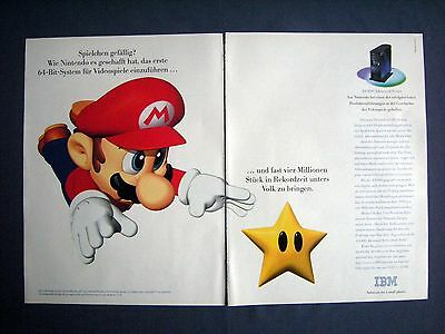 IBM / Super Mario - Orig. 1997 Werbung Publicité Reklame Advertising #0409