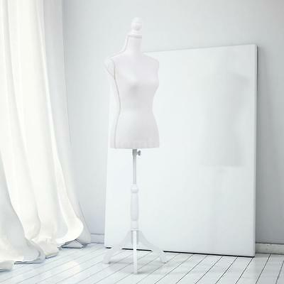 Female Mannequin Torso Dress Form Solid Wood Tripod Stand Pinnable Size H@R!