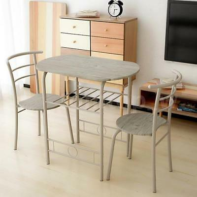 af6aafe17 3 PCS Dining Set Table 2 Chairs Bistro Pub Home Kitchen Breakfast Furniture  Luxe
