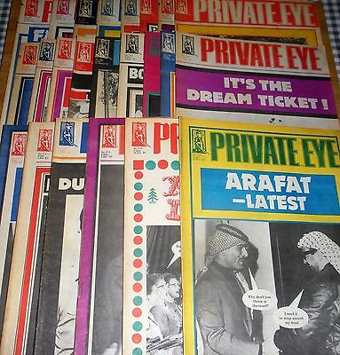 Private Eye Magazine Job Lot Of 23 Issues From 1983 General Election Year Satire