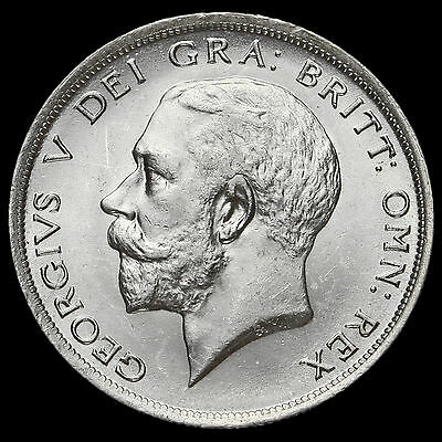 1914 George V Silver Half Crown, Scarce, G/EF #2