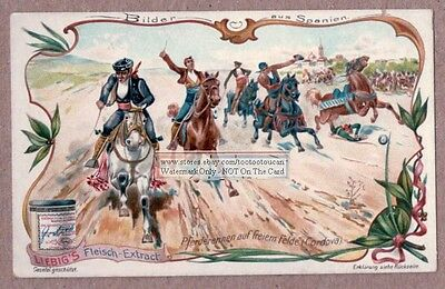 Horse Racing In Cordoue Cordova Spain Spanien c1904 Trade Ad Card