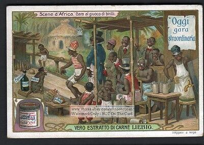 Negro Bowling For Rum Racist African Art c1906 Trade Ad Card