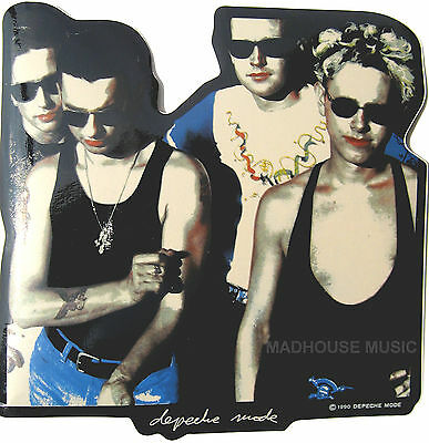 DEPECHE MODE STICKER Shaped Band Picture 1990 Pvc Offical Decal rare Large 15cm