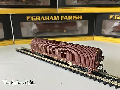 Graham Farish 373-827 N Gauge BRA Steel Strip Carrier EWS (Weathered)