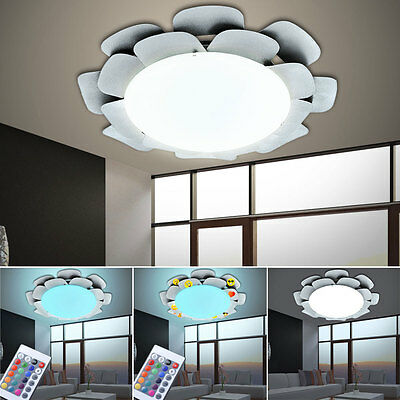 RGB LED Ceilings Wall Light Sticker Remote Control Flowers Children Lamp