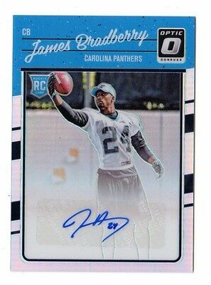 James Bradberry Nfl 2016 Donruss Optic Rookie Signatures Holo Rc (Panthers) #/99