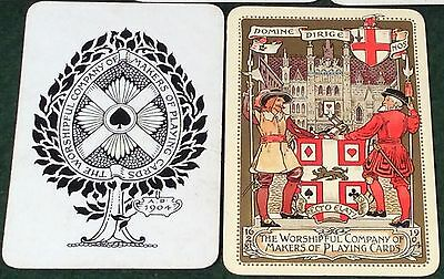 1904 WCMPC WORSHIPFUL SPECIAL * CAVALIER + BEEFEATER * PLAYING CARDS A Carpenter