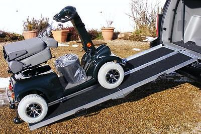 7ft Electric Scooter Wheelchair Folding Car Loading Ramp Splits in Two & Folds