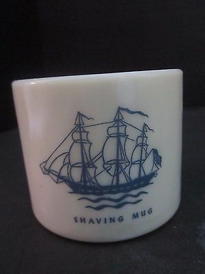 Shulton Inc. Early American Old Spice Shaving Mug Cup. Clifton, NJ. Glass.