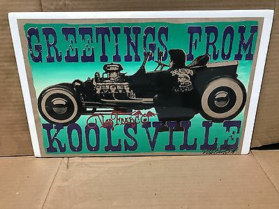 "Original Signed Von Franco Greetings From Koolsville Poster 17"" X 11"""