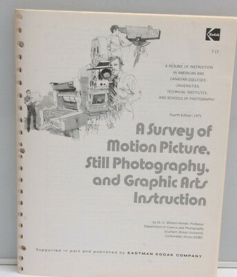 Kodak Motion Picture Photography Graphic Arts Instruction Listings T-17 - B120