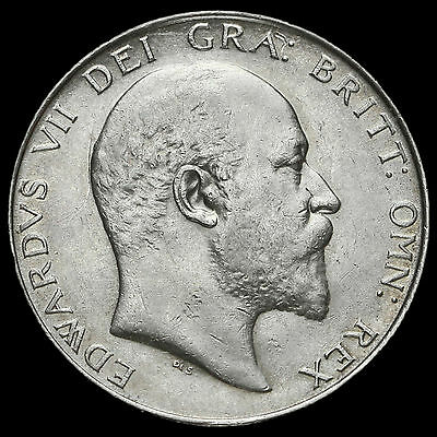 1909 Edward VII Silver Half Crown, VF