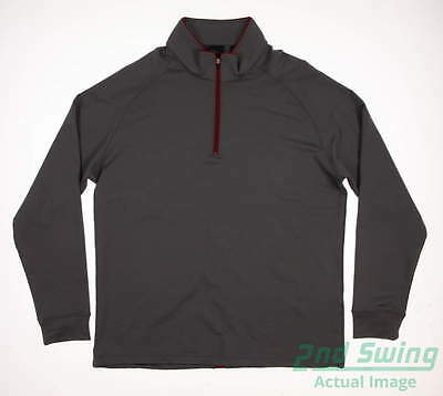 New Mens Dunning 1/4 Zip Golf Pullover Large L Gray MSRP $89