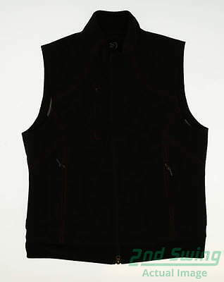 New Womens Zero Restriction Contrast Stitch Golf Vest Large L Black MSRP $135