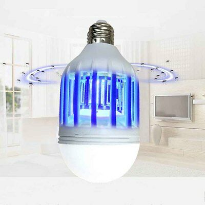 LED 15W Anti Mosquito Bulb Light Electric Zapper Fly Insect Bug Lure Killer