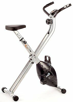 V-fit MXC1 Folding X Frame Magnetic Cycle Exercise Bike A