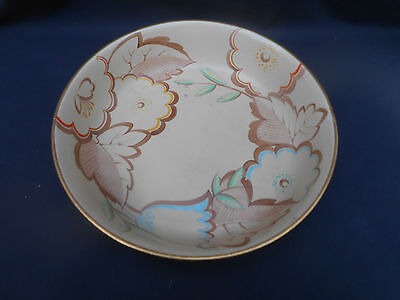 Large Early 20th c.Hand Painted ** GRAYS POTTERY ** Art Deco Floral Bowl