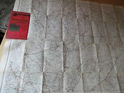 Hertford & Essex:antique Map Railways Roads For Cyclists:cruchley-Gall & Inglis