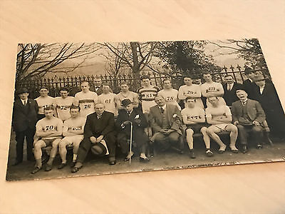 Vintage Real Photo Postcard of Unidentified Football / Sports Team