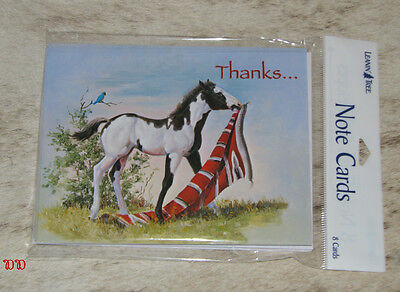 LEANIN TREE Thanks..For The Red Carpet Treatment #35927~Paint Colt~NOTECARDS