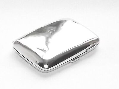 NICE ANTIQUE VICTORIAN 71g SOLID SILVER STERLING CIGARETTE CASE BIRMINGHAM 1901