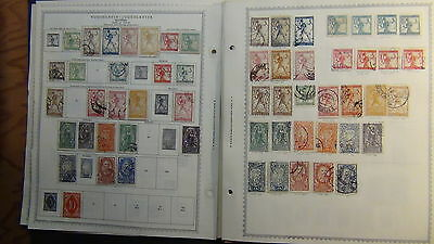 Yugoslavia stamp collection on Minkus pages to '84