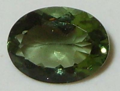 .88ct Faceted TOP QUALITY Natural Czechoslovakia Moldavite Oval Cut 8x6mm