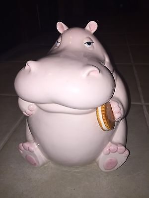 Fitz And Floyd Hippo Cookie Jar 1980
