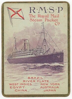 Playing Cards Single Swap - Antique Wide RMSP ROYAL MAIL STEAM PACKET Shipping 1