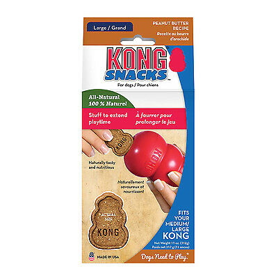 KONG Stuff'n PEANUT BUTTER Snacks for Dogs Large 11 oz (XR1)