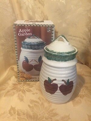 ***ALCO Apple Garden Ceramic Cookie Jar #8207 Made in China - In ORIGINAL Box***