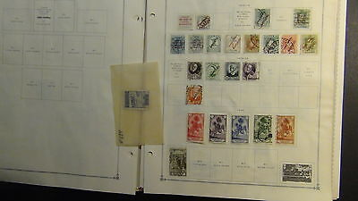 Spanish Colonies stamp collection on Scott Int'l pages to varies