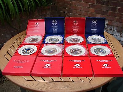 Hornsea Pottery Christmas Plates 1979-1986 Boxed Collection of 8 Plates GSP