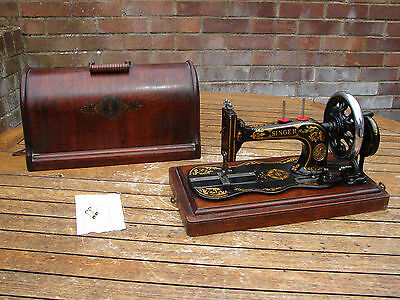 Singer 12K Fiddle Base New Family Sewing Machine 1888 Working Case Global Ship