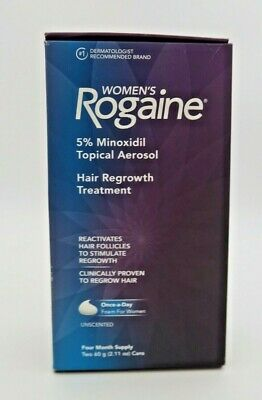 Women's Rogaine Hair Regrowth Treatment Unscented 4 Month Supply - 2 60g Cans