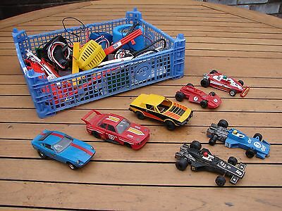 Vintage Scalextric Job Lot Datsun BMW CSL TR7 F1 JPS ELF Ferrari 312 Collection