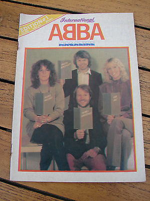 Abba International Magazine No 1 First Edition 1980s Fan Club World Shipping