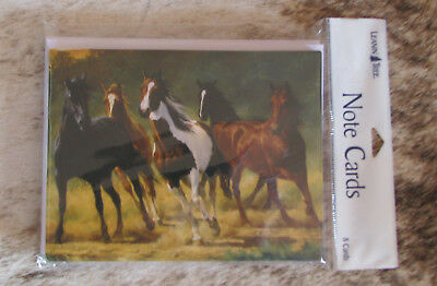 LEANIN TREE Group of Frisky Horses #35033~Pack 8 Notecards~Artist Chris Cummings