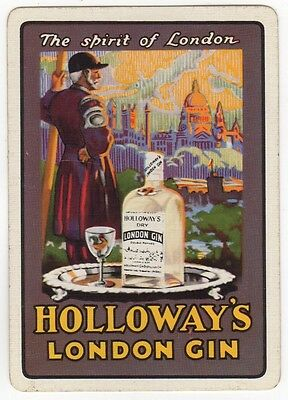 Playing Cards Single Swap - Antique Wide HOLLOWAY'S LONDON GIN Chelsea Pensioner