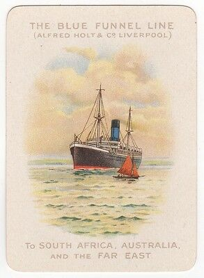Playing Cards Single Swap - Antique Wide Advertising BLUE FUNNEL LINE Shipping