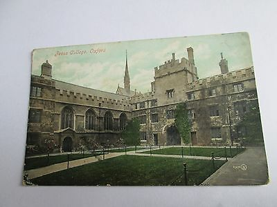 Postcard of Jesus College, Oxford 27696 posted 1907