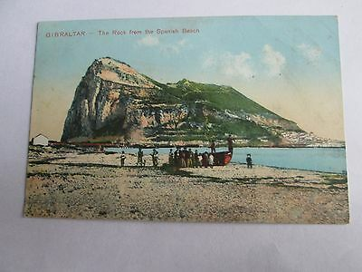 Postcard of Gibraltar, The Rock from the Spanish Bridge (unposted)